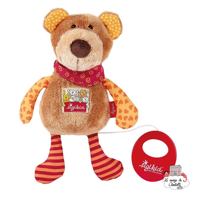 Musical Bear Red Stars - SIG-40357 - sigikid - Musical comforter - Le Nuage de Charlotte