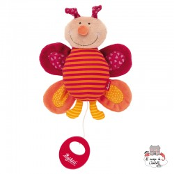 Musical Butterfly Red Stars - SIG-40318 - sigikid - Musical comforter - Le Nuage de Charlotte