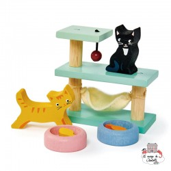 Pet Cats Set - TLT-8161 - Tender Leaf Toys - Doll's Houses - Le Nuage de Charlotte