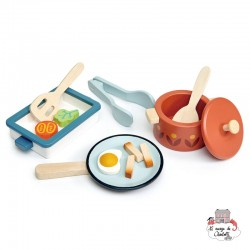 Pots and Pans - TLT-8241 - Tender Leaf Toys - Kitchen, Household and Dinnerware Set - Le Nuage de Charlotte