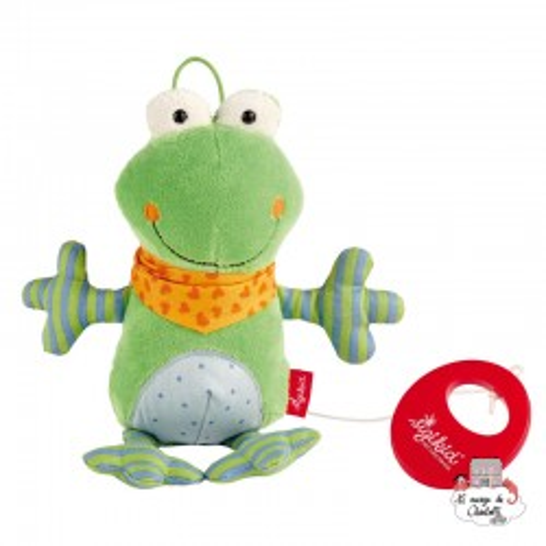 Musical Frog Red Stars - SIG-40781 - sigikid - Musical comforter - Le Nuage de Charlotte