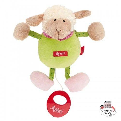 Musical Lamb Red Stars - SIG-49310 - sigikid - Musical comforter - Le Nuage de Charlotte