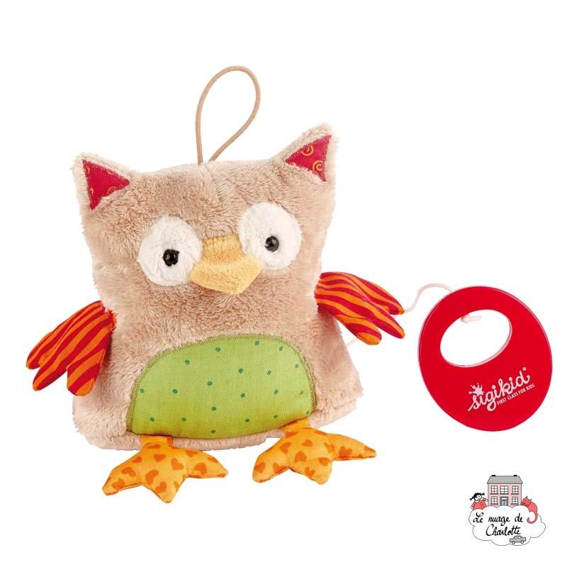 Musical Owl Red Stars - SIG-40780 - sigikid - Musical comforter - Le Nuage de Charlotte
