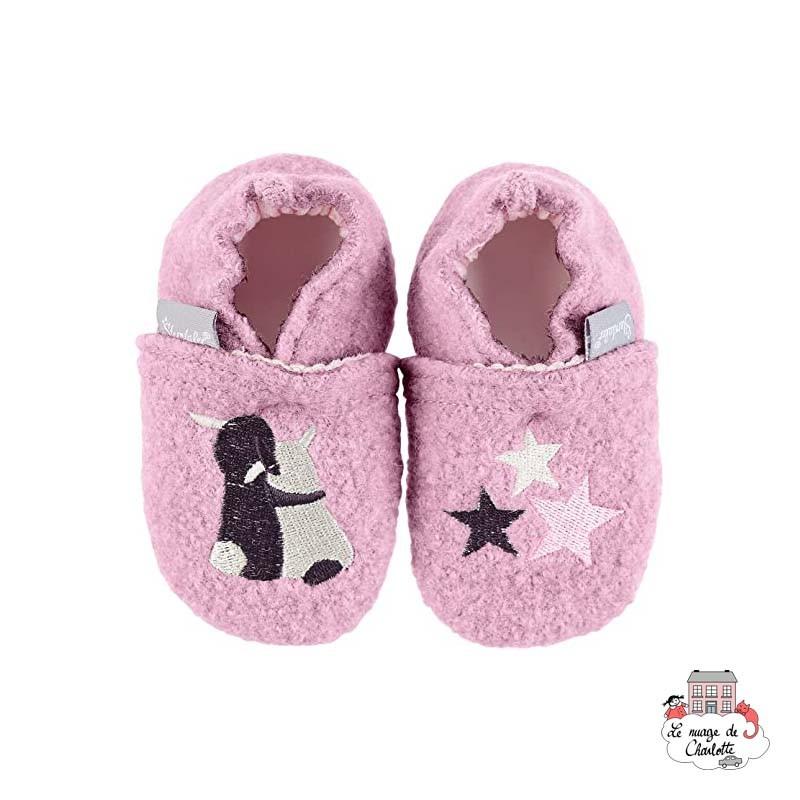 Pantoufles Sterntaler - Enfants 0-24 - STE-5301753-723 - Sterntaler - Chaussons, Chaussettes et Collants - Le Nuage de Charlotte