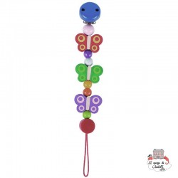 Soother chain Butterflies - HEI-734620 - Heimess - Soother Chain - Le Nuage de Charlotte
