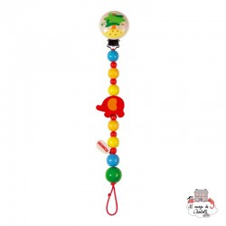 Soother chain Elephant - HEI-732260 - Heimess - Soother Chain - Le Nuage de Charlotte