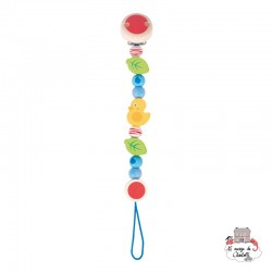 Soother chain Duck - HEI-736250 - Heimess - Soother Chain - Le Nuage de Charlotte