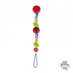 Soother chain Ladybird I - HEI-736270 - Heimess - Soother Chain - Le Nuage de Charlotte