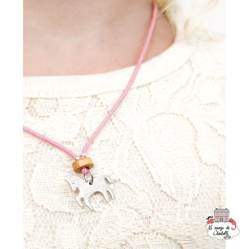 Set Unicorn, necklace and earrings - NBNK065 - By Nébuline - Hair Accessories - Le Nuage de Charlotte