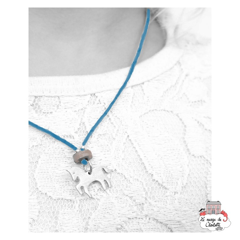 copy of Set Unicorn, necklace and earrings - NBNK065 - By Nébuline - Hair Accessories - Le Nuage de Charlotte