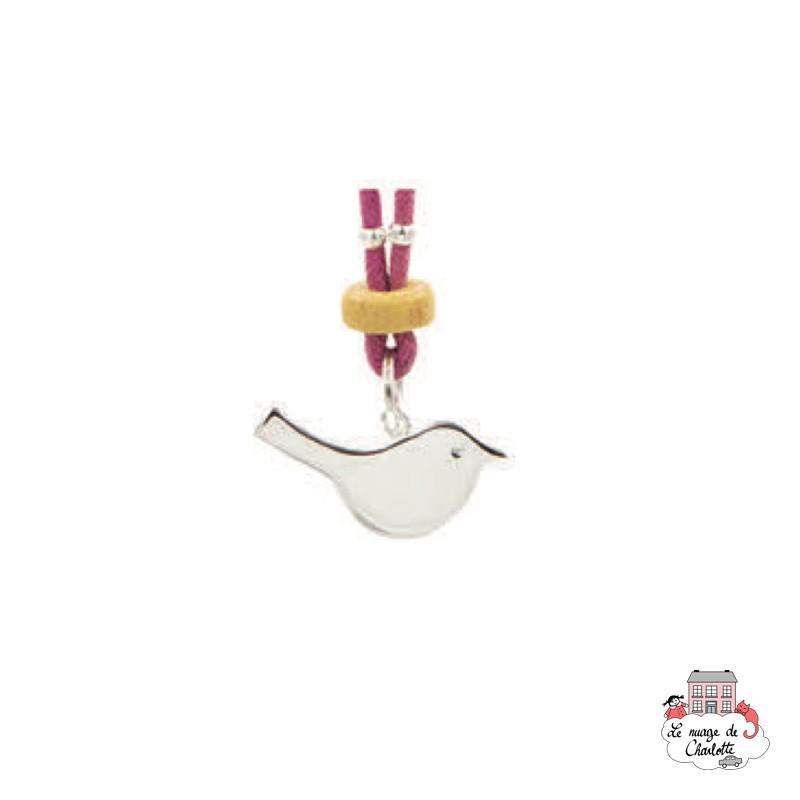 Set Bird, violet necklace and earrings - NBNK050violet - By Nébuline - Hair Accessories - Le Nuage de Charlotte