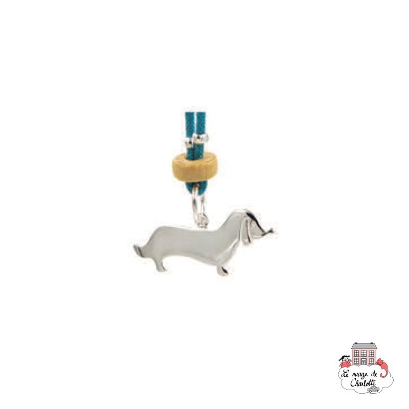Set Dog, blue necklace and earrings - NBNK063bleu - By Nébuline - Hair Accessories - Le Nuage de Charlotte