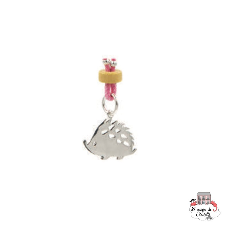 Set Hedgehog, pink necklace and earrings - NBNK061rose - By Nébuline - Hair Accessories - Le Nuage de Charlotte