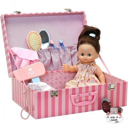 """Câlinette 28 cm Julie """"In his suitcase"""" - PCO-P712856 - Petitcollin - Poupées - Le Nuage de Charlotte"""