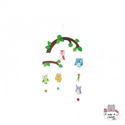 """Mobile """"Owls in the tree"""" - SMF-10115 - Small Foot - Mobile - Le Nuage de Charlotte"""