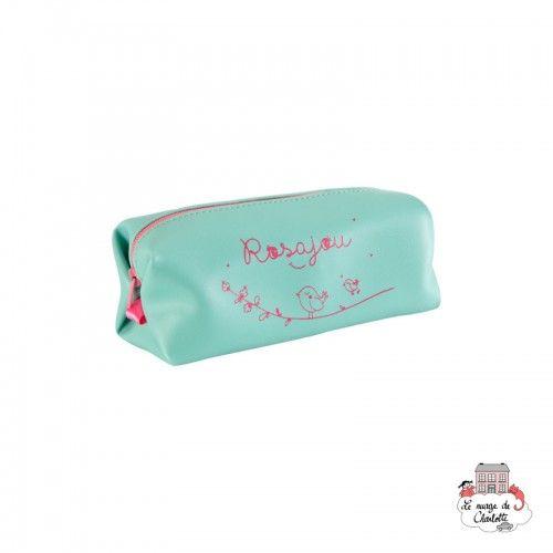Green cosmetic or pencil bag - ROS-TR18V - Rosajou - Maquillage et cosmétique fantaisie pour enfants - Le Nuage de Charlotte
