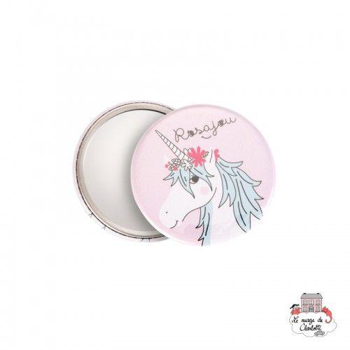 Pocket mirror - Unicorn - ROS-M02 - Rosajou - Pocket mirror - Le Nuage de Charlotte