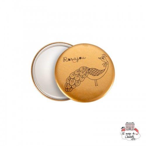 Pocket mirror - Peacock Gold - ROS-M03 - Rosajou - Pocket mirror - Le Nuage de Charlotte