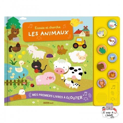 Écoute et cherche les animaux - AUZ-9782733830956 - Editions Auzou - Preschool - Le Nuage de Charlotte