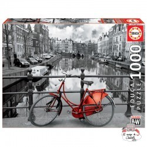 The Canal, Amsterdam, Holland - EDU-14846 - Educa Borras - Adult Puzzles - Le Nuage de Charlotte