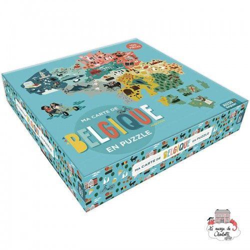 Ma carte de Belgique en puzzle - AUZ-9782733868591 - Editions Auzou - For littles - Le Nuage de Charlotte