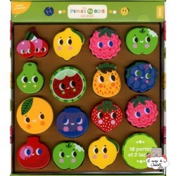 My wooden beads - fruits - AUZ-AU05361 - Editions Auzou - Threading Games - Le Nuage de Charlotte