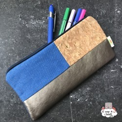 wallet or pencil case - Blue Jeans - NEB-NBNK056 - By Nébuline - Pencil Cases - Le Nuage de Charlotte