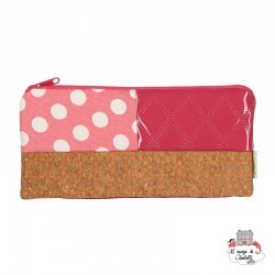 wallet or pencil case - Pink - NBNK030 - By Nébuline - Pencil Cases - Le Nuage de Charlotte