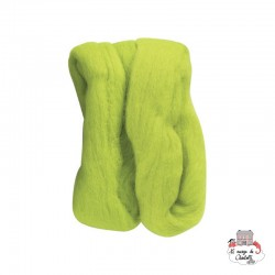 Natural Wool Roving - Lime - CLV-7921 - Clover - Felting - Le Nuage de Charlotte