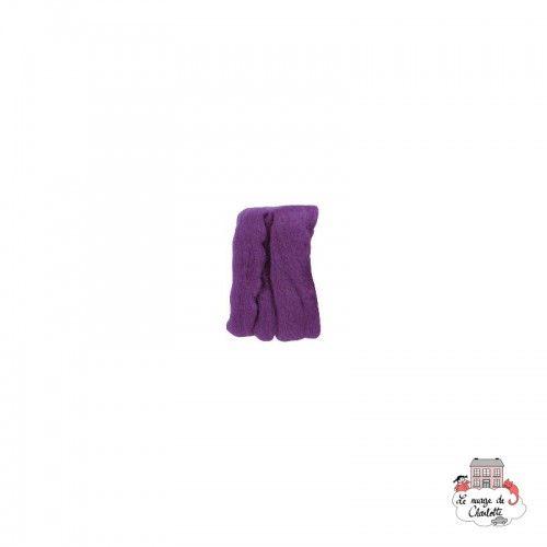 Natural Wool Roving - Violet - CLV-7925 - Clover - Felting - Le Nuage de Charlotte