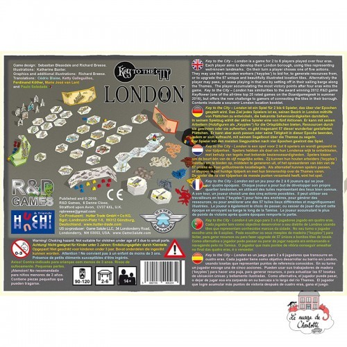 Key to the City - London - HUC-00528 - Les Jeux du Lac - Board Games - Le Nuage de Charlotte