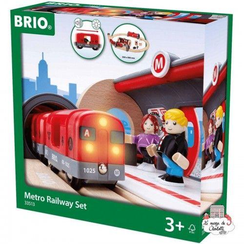 Metro Railway Set - BRI-33513 - Brio - Wooden Railway and Trains - Le Nuage de Charlotte