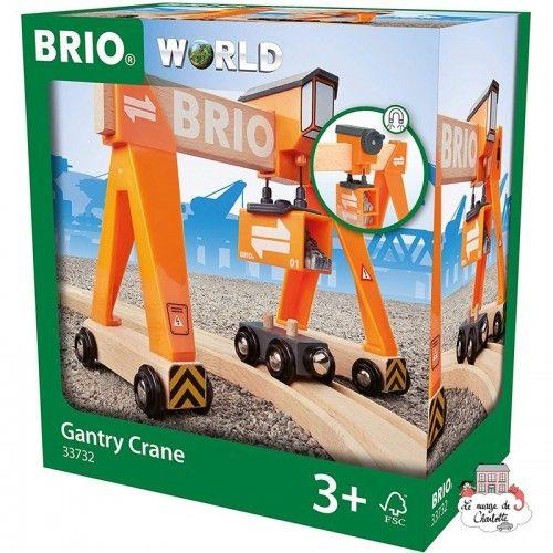 Gantry Crane - BRI-33732 - Brio - Wooden Railway and Trains - Le Nuage de Charlotte