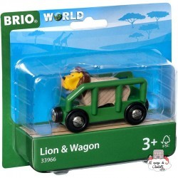 Lion & Wagon - BRI-33966 - Brio - Wooden Railway and Trains - Le Nuage de Charlotte