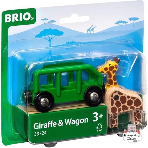 Giraffe & Wagon - BRI-33724 - Brio - Wooden Railway and Trains - Le Nuage de Charlotte