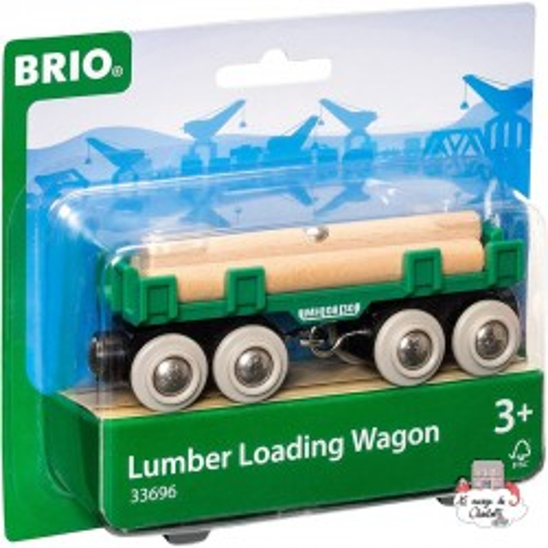 Lumber Loading Wagon - BRI-33696 - Brio - Wooden Railway and Trains - Le Nuage de Charlotte