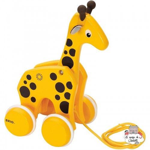 Pull-along Giraffe - BRI-30200 - Brio - Pull Along Toys - Le Nuage de Charlotte