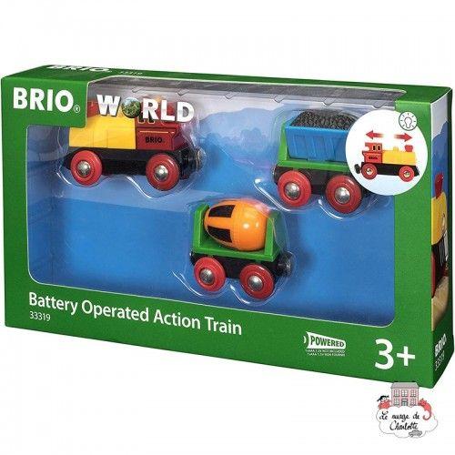Battery Operated Action Train - BRI-33319 - Brio - Wooden Railway and Trains - Le Nuage de Charlotte