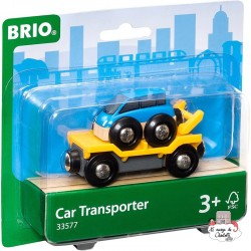 Car Transporter - BRI-33577 - Brio - Wooden Railway and Trains - Le Nuage de Charlotte