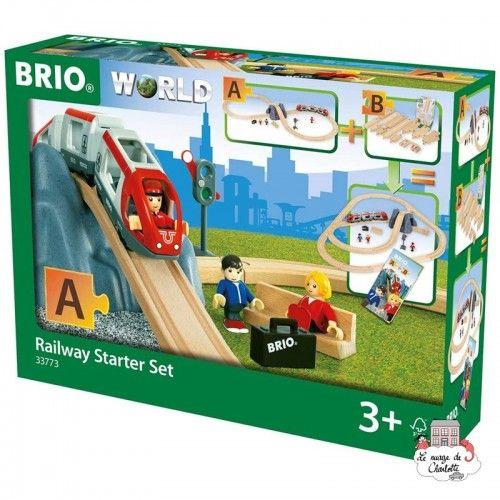 Railway Starter Set - Pack A - BRI-33773 - Brio - Wooden Railway and Trains - Le Nuage de Charlotte