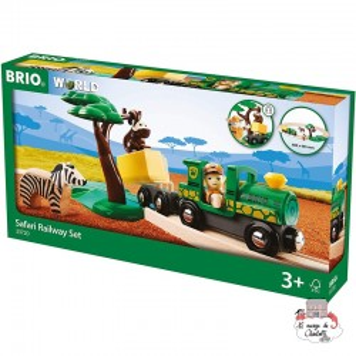 Safari Railway Set - BRI-33720 - Brio - Wooden Railway and Trains - Le Nuage de Charlotte