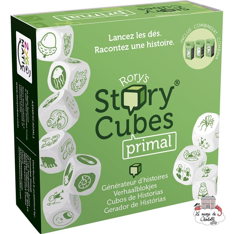Rory's Story Cubes - primal - ZYG-CAR0105 - Zygomatic - Board Games - Le Nuage de Charlotte