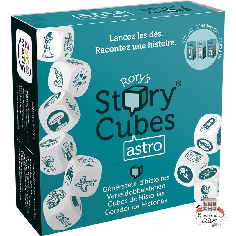 Rory's Story Cubes - astro - ZYG-CAR0131 - Zygomatic - Board Games - Le Nuage de Charlotte