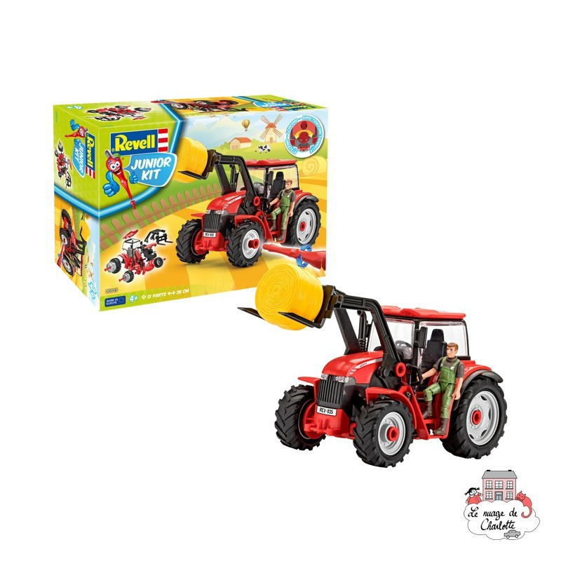 Junior Kit - Tractor with Loader - REV-00815 - Revell - Kit to assemble - Le Nuage de Charlotte