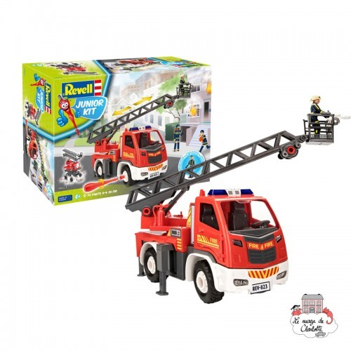 Junior Kit - Fire Truck - Ladder Unit - REV-00823 - Revell - Kit to assemble - Le Nuage de Charlotte