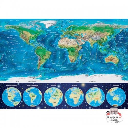 "World Map ""Neon"" - EDU-16760 - Educa Borras - 1000 pieces - Le Nuage de Charlotte"