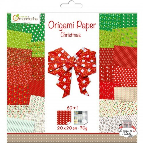 Origami Paper Christmas (60F) - AVM-OR506C - Avenue Mandarine - Supplies - Le Nuage de Charlotte