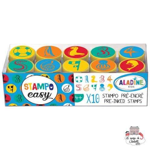 Stampo Easy - Numbers - ALA-03620 - AladinE - Children's Stamps - Le Nuage de Charlotte