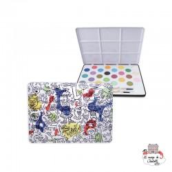 Keith Haring Metal Paint Box - VIL-9214 - Vilac - Supplies - Le Nuage de Charlotte