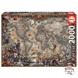 Pirates map - EDU-18008 - Educa Borras - 2000 pieces - Le Nuage de Charlotte